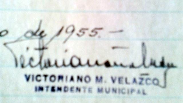 La Firma de Victoriano Velazco