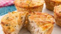 Muffins salados de pollo