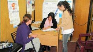 La Unidad Móvil de Salud visita instituciones