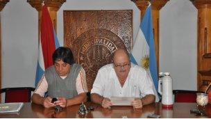 Conferencia de prensa en el HCD