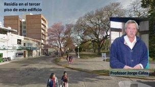 Jorge Calza tendrá una calle en su honor