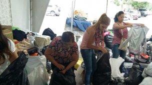 Donaciones para los inundados: al corazón de la ciudad