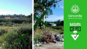 El municipio escrachará los baldíos