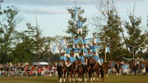La Escuadra Albiceleste maravilló en el festival patrio