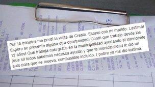 Juan Carlos Cresto visitó a la vecina que lo cuestionó en Facebook