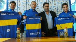 Walter Bou, jugador oficial de Boca