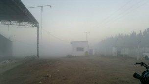 Incendios y neblina restringen el tránsito en ruta 4