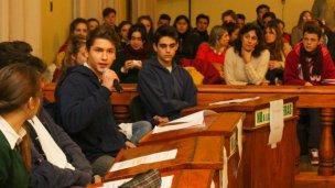 Los estudiantes harán sus proyectos de ley