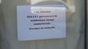 OCA cerró sus puertas por tiempo indeterminado