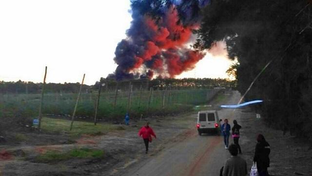 Millonarias pérdidas por un incendio en empaque de la familia Bulgheroni