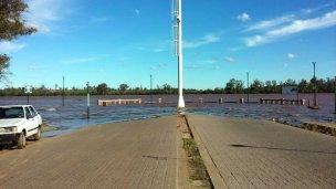 El río se mantendría encima de los 10 metros