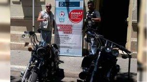 Los motoqueros llegaron para donar sangre