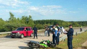 Autovía 14: Chocó contra el guardarrail y está grave