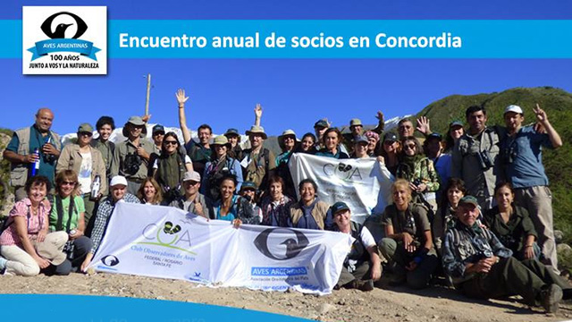 Comienza el encuentro de Aves Argentinas en Concordia