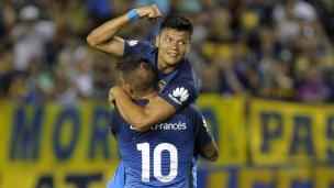 Bou comenzó el 2017 anotando un gol para Boca
