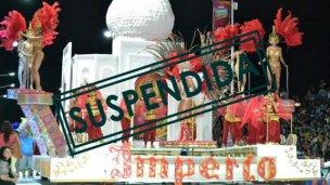 Suspendieron la cuarta noche del Carnaval