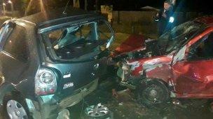 Choque bajo la lluvia en el acceso norte: 7 heridos
