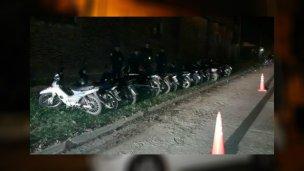Con un operativo, 15 motos secuestradas