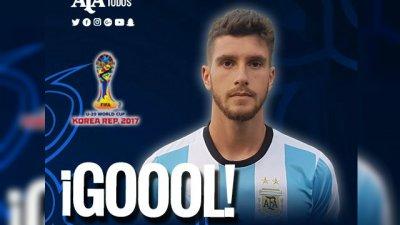 Senesi aportó a la goleada y Argentina sueña