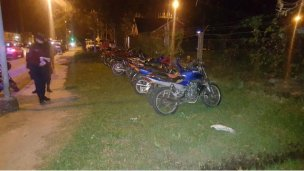 Retuvieron 31 motos en un solo operativo policial