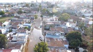 Dos barrios se unieron en una campaña por los inundados