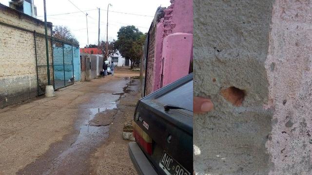 Un agujero de bala en la casa de Jonathan