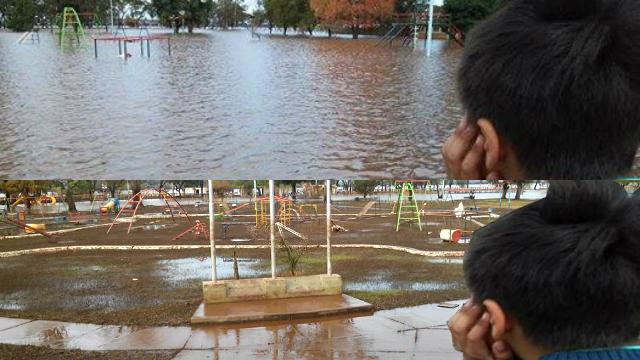 Tras la inundación, así quedó Concordia
