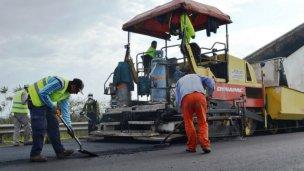 La repavimentación de Avenida Frondizi está casi lista