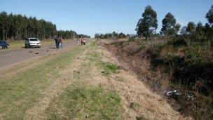 Grave accidente en el acceso a Los Charrúas
