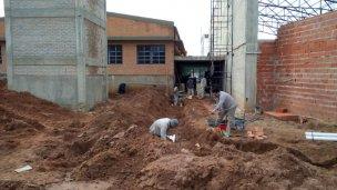 Comenzó la segunda etapa de construcción de la escuela 37