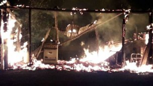 La dueña de casa no estaba, hubo un incendio y perdió casi todo