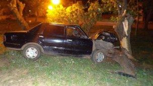 Impactaron contra un árbol y tres menores resultaron heridos