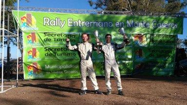 San José y Concordia, representadas en el podio del Rally Entrerriano