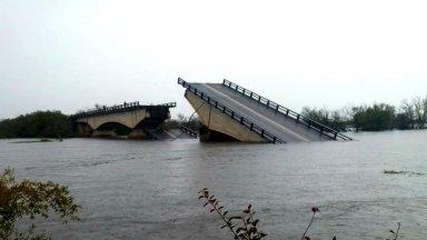 Puente colapsado en ruta 12