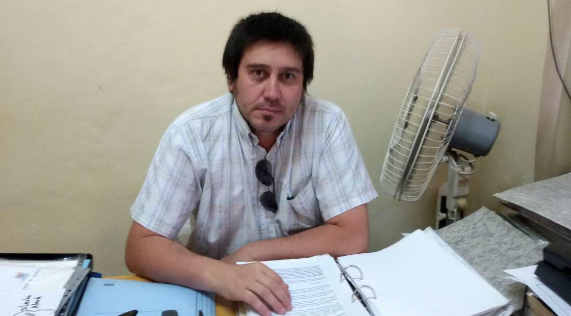 Mario Cornú está al frente de Bromatología, en la Municipalidad de Federación.
