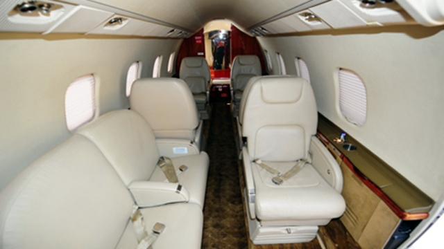 El interior de un avión de Baires Fly SA