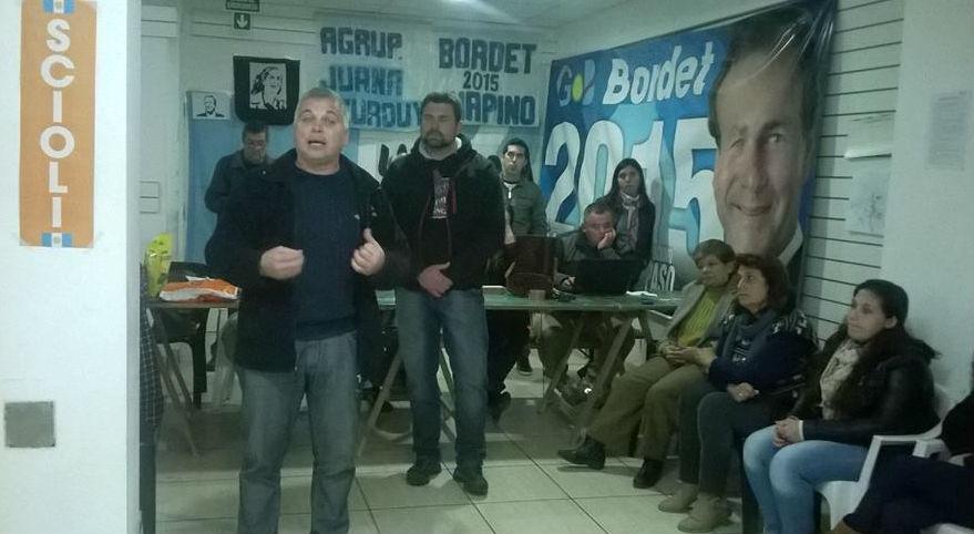 Sciortino, de campaña en 2015 cuando invitaba a votor por Scioli-Bordet.