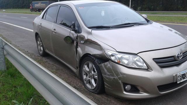 El Toyota apenas sufrió un abollón