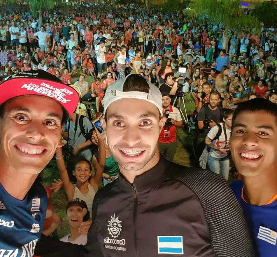 Juntos en el podio del tradicional maratón de Concordia.