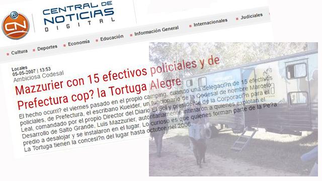 En 2007 Mazurier salía en los medios tras tomar posesión de la Tortuga Alegre