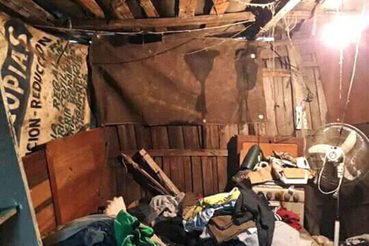 El interior de una casilla