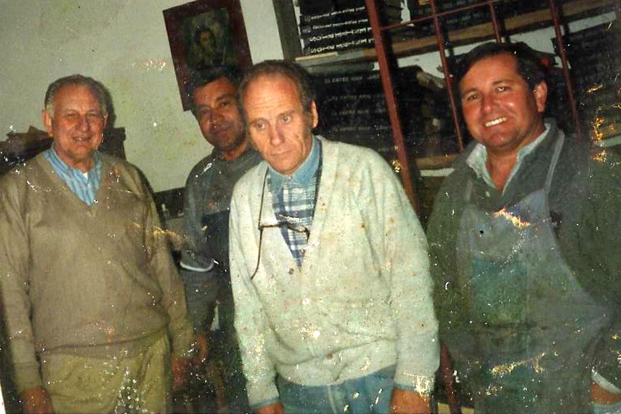 Armando Cergneux, Juan Pestaña, Ramón Besson y Perez.