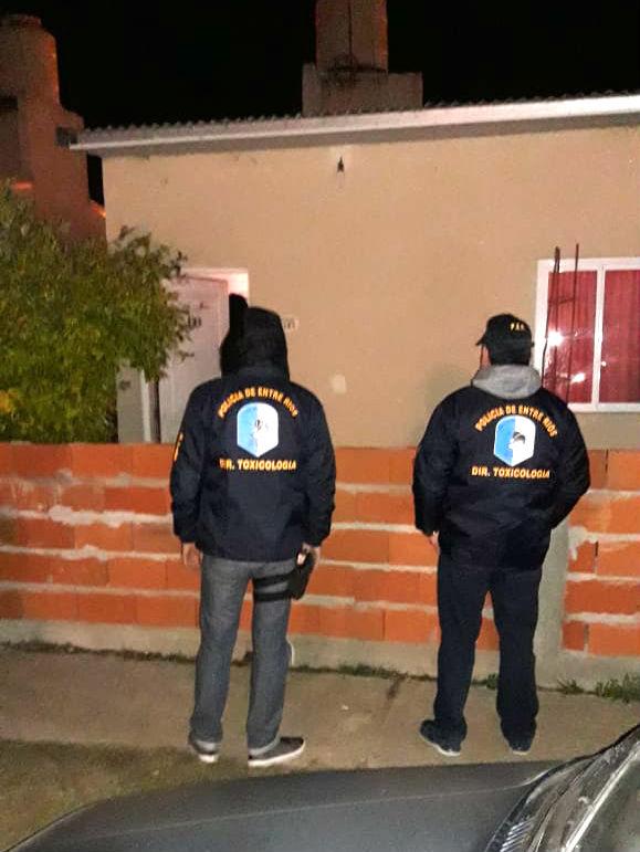 Personal policial de Chajarí y Federación participó del operativo.