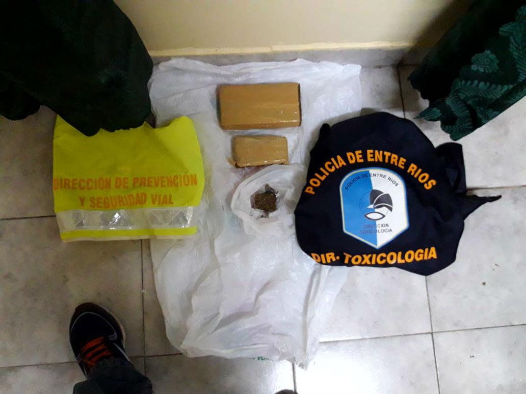 El cargamento que secuestró la Policía entrerriana, a la altura de Federación.