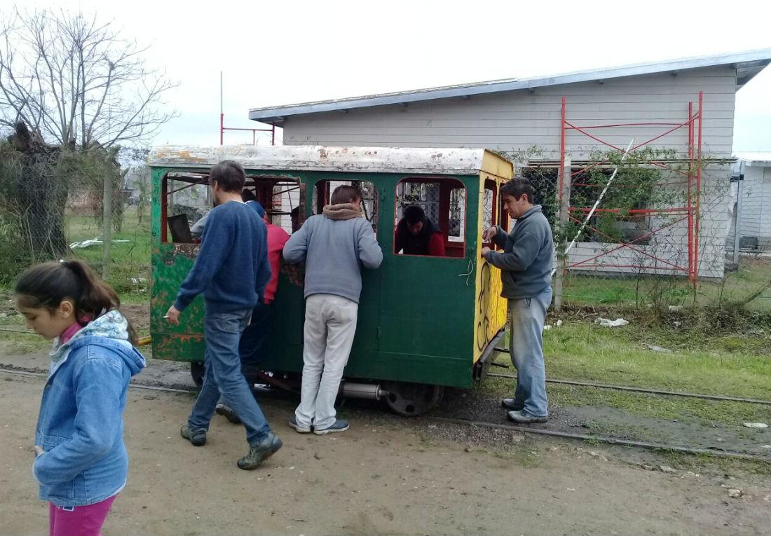 Este es el vagón con el que planean prestar un servicio turístico desde el Ferroclub Gualeguay.