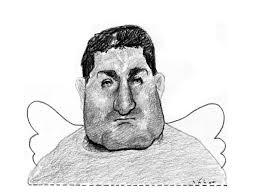 El fotógrafo asesinado, en el dibujo hecho por Sábat.