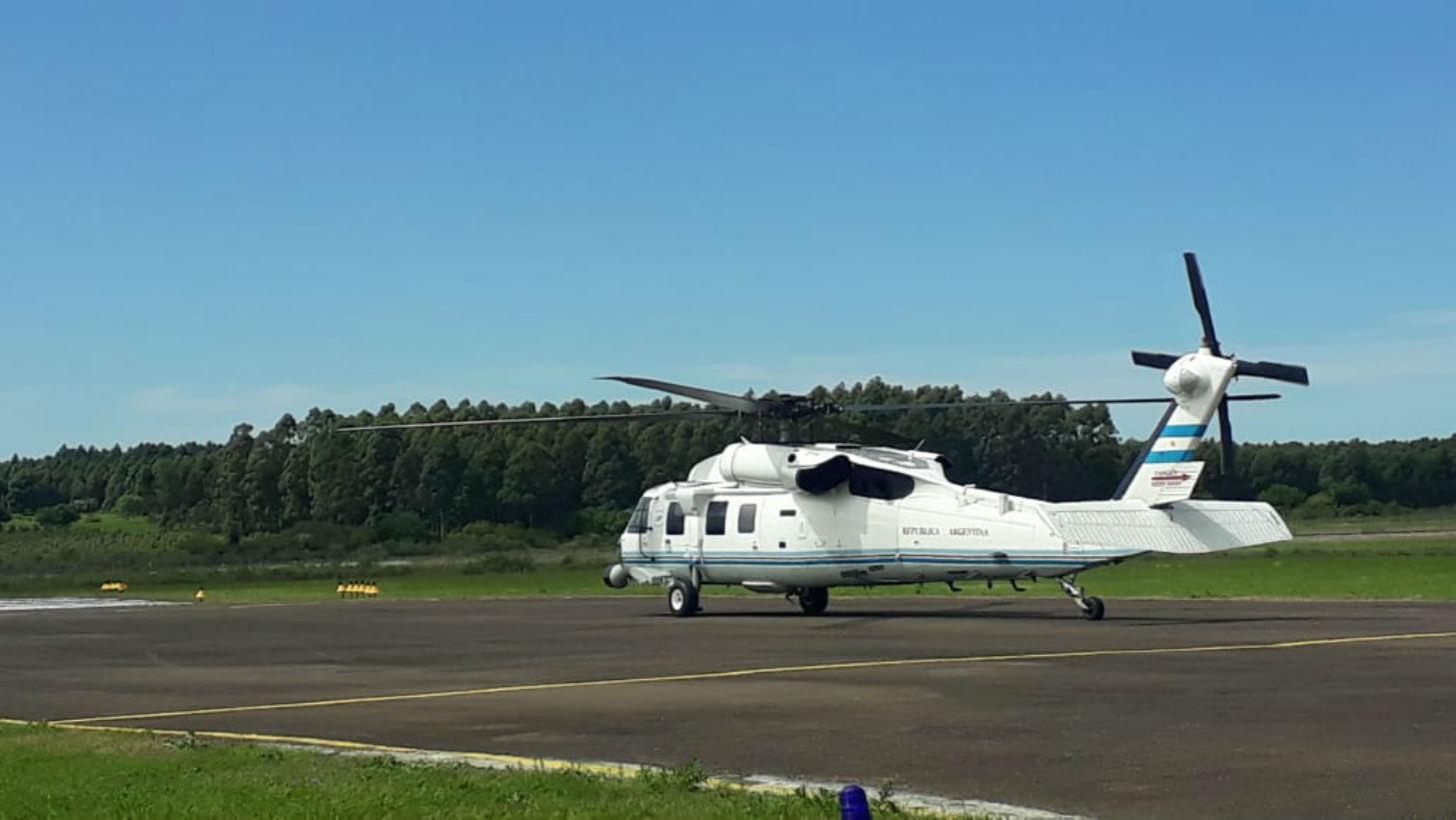 El Black Hawk paró en Concordia este martes por la mañana.