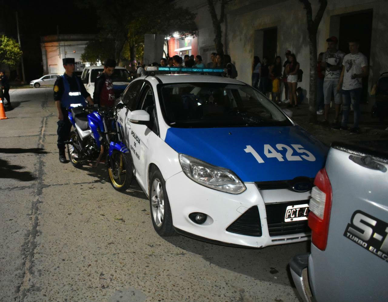 El control de tránsito estaba en Sarmiento y Urquiza, en Chajarí.