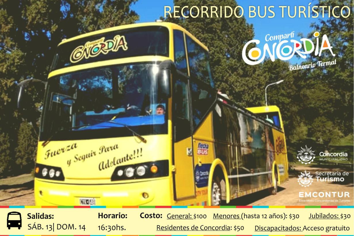 Por informes para el bus turístico hay que comunicarse a (0345)421-3905 de Informes.