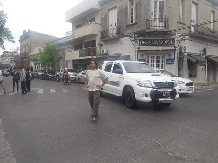 Ramírez y Entre Ríos, esquina de plaza Urquiza, fue el choque protagonizado por Cresto.e